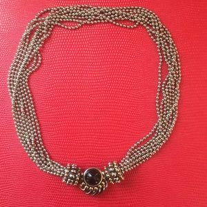 David Yurman Style Magnetic Black Onyx Necklace